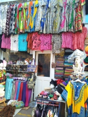 One of the colourful shops in Granville Arcade, Brixton Market